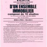VENTE AUX ENCHERES PUBLIQUES SUR SURENCHERE ST-PAUL-LES-DAX